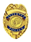 internet police badge gold